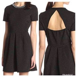 Collective concepts black jeweled open back dress